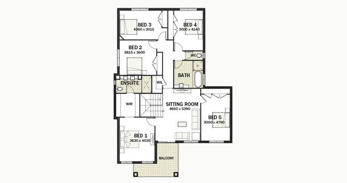 Nu Caprice Optional First Floor - 5 Bedrooms
